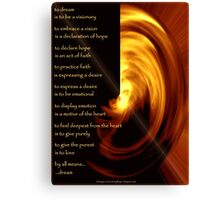 To Dream - the image Canvas Print