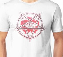 Pentagram star, circle, logo Unisex T-Shirt