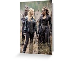 The 100 - Clexa (2x15) Greeting Card