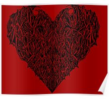 Valentines Heart Red Poster