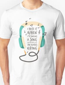 The Wrong Words Unisex T-Shirt