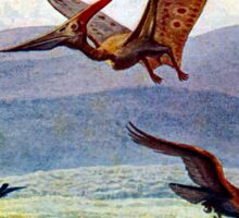 Vintage Pteranodon Painting by Heinrich Harder Sticker