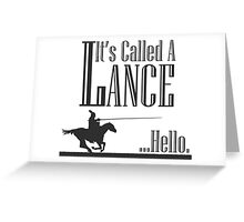 A Knight's Tale Lance Joust Greeting Card