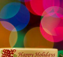 Happy Holidays Greeting Card Sticker
