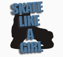 Skate Like A Girl Kids Tee