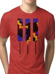 Retro Piano Keys Tri-blend T-Shirt