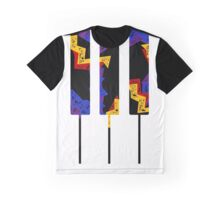 Retro Piano Keys Graphic T-Shirt