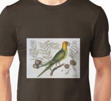 Vintage Parrot of Carolina Naturalist Illustration Unisex T-Shirt