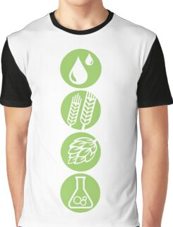 BEER: Water, Barley, Hops & Yeast Graphic T-Shirt