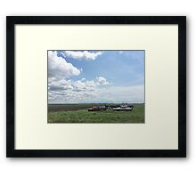 Middle of No Where Framed Print