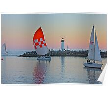 Red sail coming home Poster