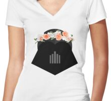 Vader's Feminine Side Women's Fitted V-Neck T-Shirt