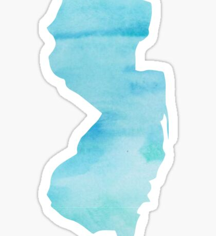 New Jersey state blue watercolor Sticker