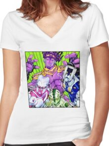 JoJo Part 4: Diamond is Unbreakable Stands Women's Fitted V-Neck T-Shirt