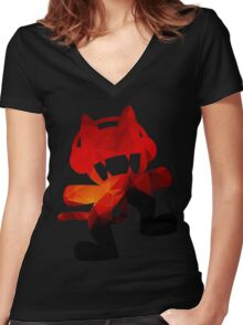 Polygon Fire Women's Fitted V-Neck T-Shirt