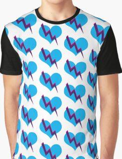 Tri-color heart Graphic T-Shirt