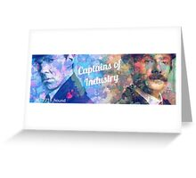 Captains of Industry banner Greeting Card
