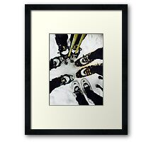 Paws and Snowshoes Framed Print