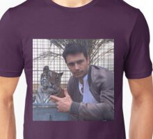 james franco with tiger Unisex T-Shirt