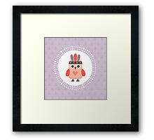 Hipster Owlet Purple Framed Print