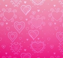 Pink Hearts by link2sue