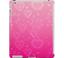 Pink Hearts iPad Case/Skin