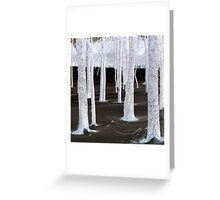 Winter White Faerie Trees Greeting Card