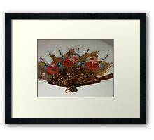 Ornate Floral Fan Framed Print
