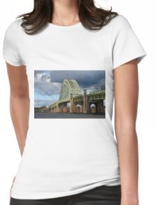 Bridge Under Troubled Skies  Womens Fitted T-Shirt