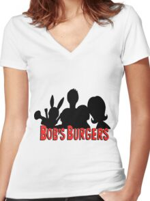 The Belcher Family // Bobs Burgers Women's Fitted V-Neck T-Shirt