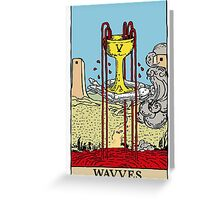 "Wavves- V ""Cup"" Greeting Card"