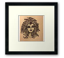 Beautiful Zentangle Vintage Look Fairy Framed Print