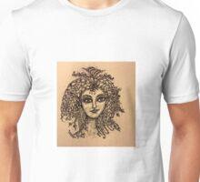 Beautiful Zentangle Vintage Look Fairy Unisex T-Shirt