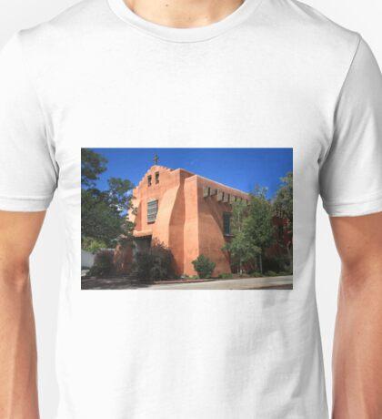 Santa Fe - Adobe Church Unisex T-Shirt