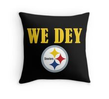 Who Dey - We Dey Steelers Throw Pillow