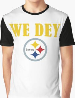 Who Dey - We Dey Steelers Graphic T-Shirt