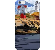 Nubble Lighthouse, York, ME iPhone Case/Skin