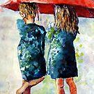 umbrella Girls in Green by pamfox
