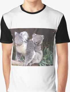Koala Mother and Baby Graphic T-Shirt