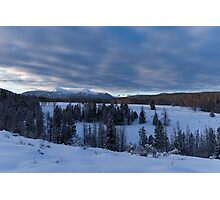 Snowy Mountain Scene in the Uinta's Photographic Print
