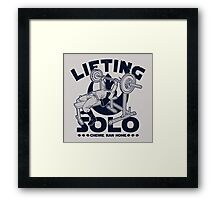 Lifting Solo Framed Print