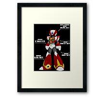 MEGAMAN ZERO Framed Print