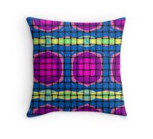 Hot pink and strong blue geo. Throw Pillow