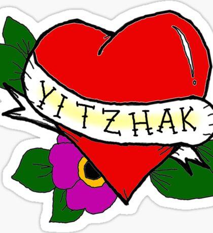 Yitzhak (Tattoo Heart)  Sticker