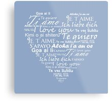 Heart I love you in other languages Metal Print