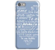 Heart I love you in other languages iPhone Case/Skin