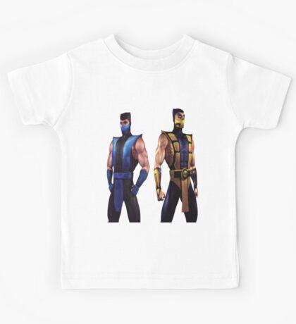 Mortal Kombat 4 Scorpion and Subzero Kids Tee