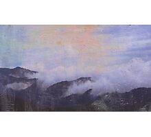 mountains in clouds Photographic Print