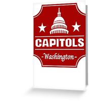 DEFUNCT - WASHINGTON CAPITOLS Greeting Card