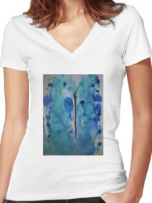 Butterfly 1 Women's Fitted V-Neck T-Shirt